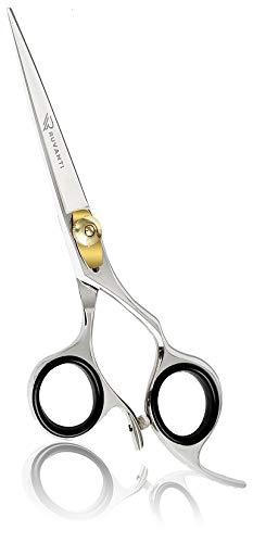 "Ruvanti Professional Razor Blades Hair Scissors - Barber Hair Cutting Scissor - 6.5"" Japanese Super Cobalt Stainless Steel Hair Shear - Hairdresser Scissor/Barber Shears with Golden Adjustment Screw"