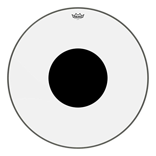 "Remo Controlled Sound Clear Black Dot Bass Drumhead - Top Black Dot, 28"" from Remo"