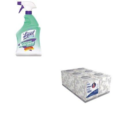 KITKIM21271RAC74411EA - Value Kit - Professional LYSOL Brand Antibacterial Kitchen Cleaner (RAC74411EA) and KIMBERLY CLARK KLEENEX White Facial Tissue (KIM21271)