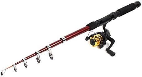 Caña de pescar de 6 Secciones 6.6ft largo w Gear Ratio 5.2: 1 del ...