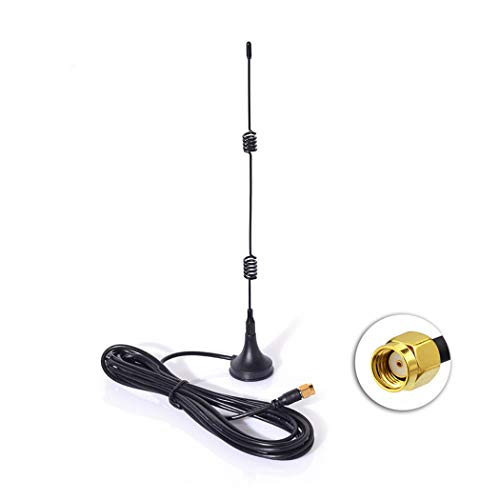 Bingfu WiFi 2.4GHz 7dBi Magnetic Base RP-SMA Male Antenna for PC Wireless Mini PCI Express WiFi Adapter PCI-E Network Card USB WiFi Adapter WiFi Router Booster Repeater AP Security IP Camera