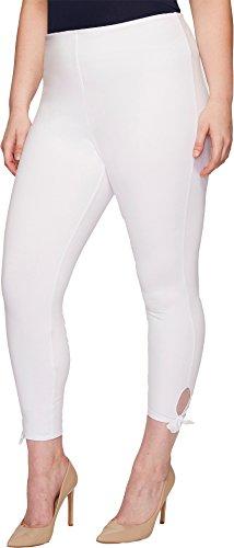 Lyssé Women's Plus Size Tie Cotton Crop, White, 3X