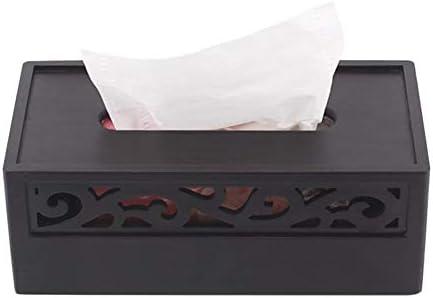 Luqifei Caja de pañuelos Bandeja de Madera Retro del Papel Chino del té Tabla Caja de