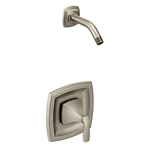 Moen T2692NHBN Voss Posi-Temp Tub Shower Valve Trim without Showerhead,Valve Required, Brushed Nickel (Moen Nickel Faucet Brushed Voss)