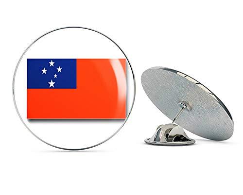 Lapel Pins Samoa (Veteran Pins Samoa Flag Steel Metal 0.75
