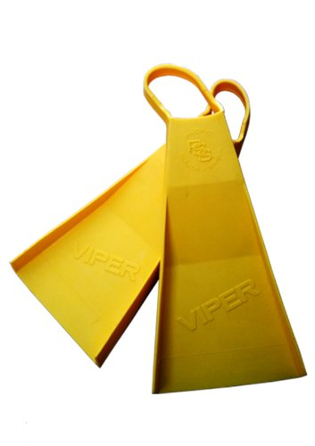 Viper Vector V5 Yellow Surfing Fins - S Viper Surf Fins