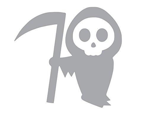 Cartoon Grim Reaper Halloween Scary Death Vinyl Sticker Decal (4