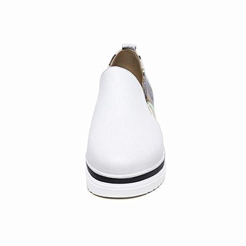 Charm Foot Donna Casual Multicolor Mocassini Con Tacco Basso Scarpe Bianche
