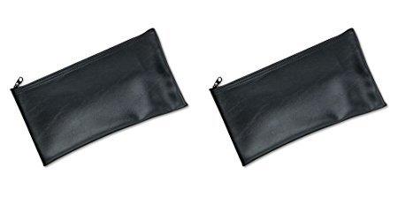 Zipper Leatherette (MMF Industries Leatherette Zipper Wallet, 11 x 6 Inches, Black (2340416W04), 2 Packs)