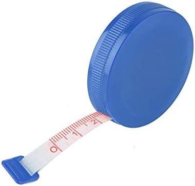 1,5M de Medidas de costura de tela dieta a medida IBISHITAOXUNBAIHUOD Tama/ño compacto color al azar Nueva retr/áctil cinta m/étrica Regla 45 cun