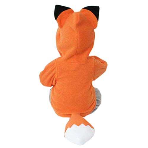 Sunbona Toddler Baby Boys Girls Cute Autumn Winter Outerwear Jacket Cartoon Design Fox Hooded Warm Thick Coat Clothes