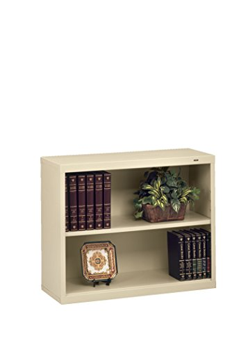 Tennsco B30PY 34-1/2 by 13-1/2 by 28-Inch Metal Bookcase with 2 Shelves, Putty Tennsco Steel Bookcases