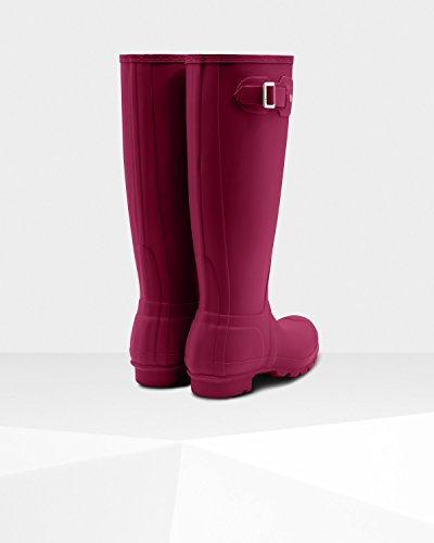 Hunter Women's Original Tall Rain Boots Dark Ion Pink, Size 9 by Hunter (Image #2)