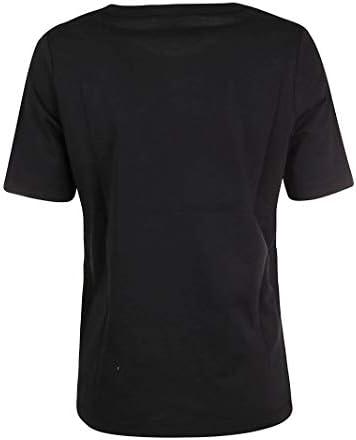 FAY Fashion Woman NPWB2406260PKUB999 Black Cotton T-Shirt | Spring Summer 20