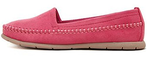 Loafers Casual Shoes On Slip Flat Suede Pink Womens PPXID qYXZSS