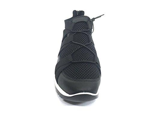 7770 NERO Scarpa donna sneaker con elastico Igi&co pelle made in italy