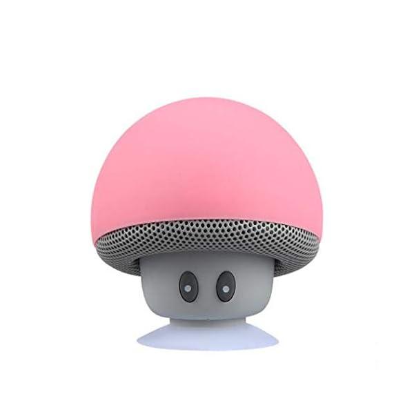 Haut-Parleur Portable Bluetooth étanche Voyage en Plein airBande dessinée Petit Champignon Bluetooth Haut-Parleur étanche Smart Petit Haut-Parleur Rouge 5.5cmx5.5cm 4