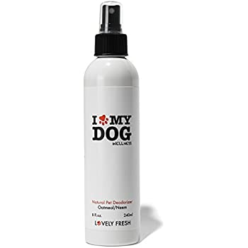 Lovely Fresh Dog Deodorizer Spray, All Natural Grooming Product with Oatmeal and Neem, Keep