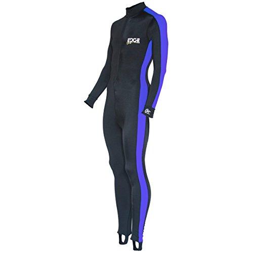 Edge Sport Lycra Body Suit Dive Skin (Blue,