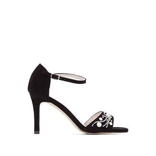 La Redoute Womens Jewel Detail Sandals Black