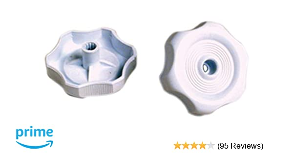 Interior Hardware 1 inch Shaft White 2-1//4 inch Diameter RV Designer H717 Plastic Window Knob