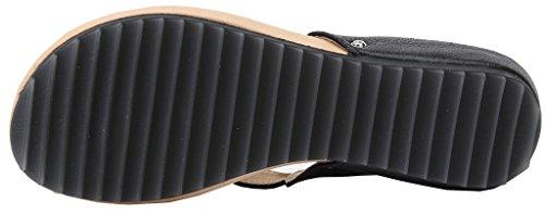 Shoes Basso Tacco AgeeMi Diamante Donna Nero con Pantofole Eul07 Sandali Vetro 1dCInAIqxw