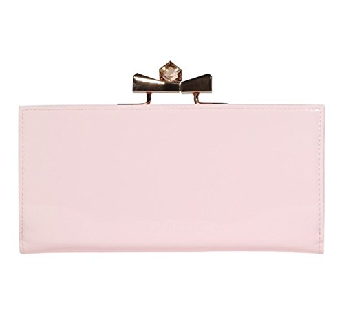 Ted Baker Franny Crystal Popper Baby pink Patent Leather Matinee Purse Wallet ()