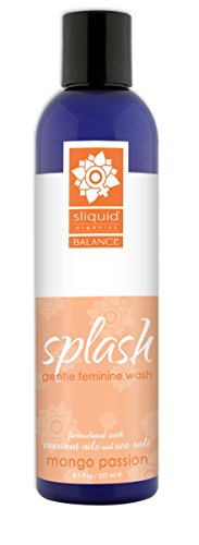 Sliquid Splash Feminine Wash, Mango Passion, 8.5 Ounce (Best Natural Feminine Wash)