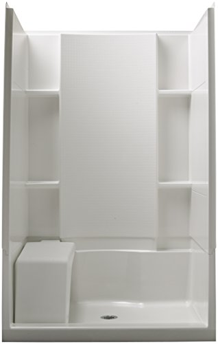 STERLING 72280100-0 Accord Seated 36-Inch x 48-Inch x 74-1/2-Inch Shower Kit, - Vikrell Material