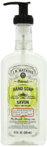 J.R. Watkins Natural Liquid Hand Soap, Aloe & Green Tea, 11 Ounce (Pack of 6)