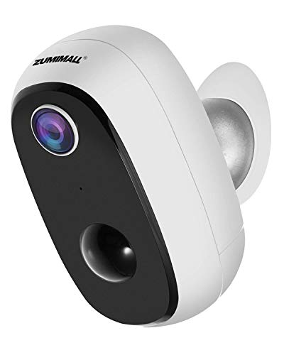 Wireless Rechargeable Battery-Powered Security Camera, 1080P Outdoor WiFi Camera with 2-Way Audio, Waterproof Home Camera with Motion Detection, Night Vision, Deterrent Alarm, Cloud Storage/SD Slot