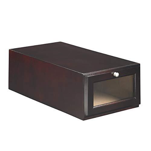 ShoeTrap Mahogany Standard Shoe/Sandal Storage Box ST-10MA,