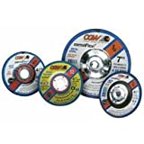 CGW Abrasives 35618 Depressed Center Wheel 4-1/2'' x 1/8'' x 7/8'' Type 27 24 Grit Silicon Carbide - Pkg Qty 25, (Sold in packages of 25)