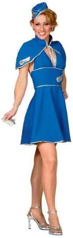 Britney Spears Air Hostess Fancy Dress Costume Uk 10 12 Amazon Co Uk Toys Games