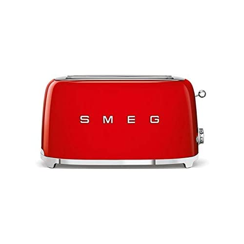Smeg TSF02RDUK | 50's Retro Style 4 Slice Toaster in Red
