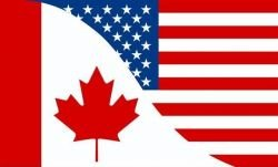 CANADA / USA COMBO 3 X 5 FEET LARGE COUNTRY FLAG BANNER ... CANADIAN (92 CM X 152 CM) .. NEW