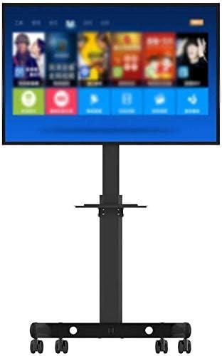 Hyl supporto de TV Negro Suelo del Carro Soporte for TV, TV LCD de 32-60 Pulgadas con Rueda de Ajuste de rotación del Soporte de Montaje con Bandeja LCD y computadora: Amazon.es:
