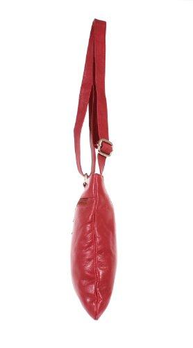 Oxbridge Satchels, Borsa a secchiello donna rosso Red