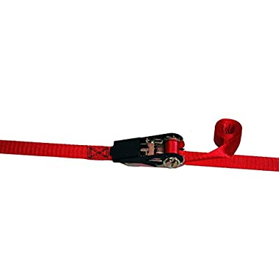Highland (9210500) 10' Red Ratchet Tie Down with Hooks - 4 pack: Automotive
