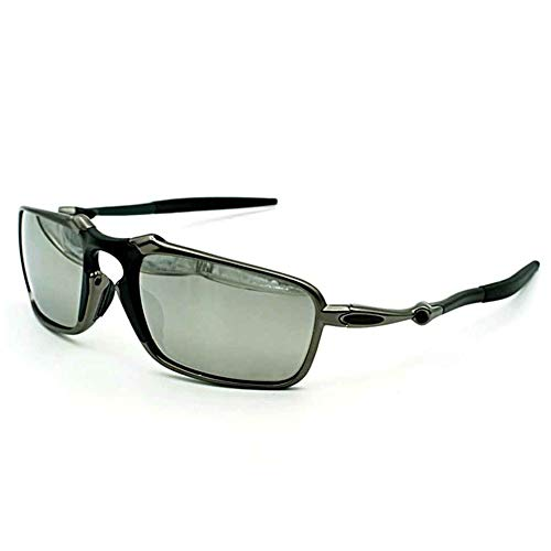 Top Sports Polarized Sunglasses Mens Riding Aluminum x Metal Iridium Ice Mirror (gun ()