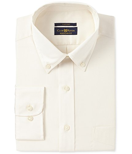 Club Room Men's Estate Classic/Regular Fit Wrinkle Resistant Pinpoint Dress Shirt (Neck 17