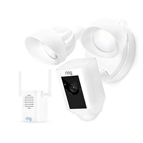 Ring, DB-Ring-FLCAM-W, Ring Floodlight Cam/Motion-Activated/Siren Alarm / 2-Way Talk / 1080p / White Case