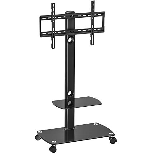 FITUEYES Floor TV Stand with Swivel Mount Rolling TV Stand/C