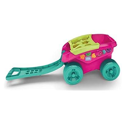 Mega Bloks Building Basics Shape Sorting Wagon Building Set, Pink: Toys & Games