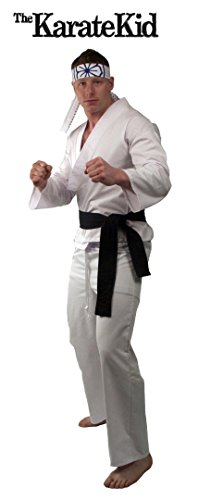 The Karate Kid DELUXE Daniel Mens Replica Gi Costume (X-Large) (Karate Kid Costume)