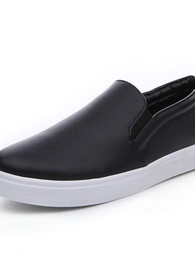 ZQ gyht Zapatos de mujer-Tacón Bajo-Comfort-Mocasines-Exterior / Oficina y Trabajo / Casual-Nappa Leather-Negro / Blanco , black-us6 / eu36 / uk4 / cn36 , black-us6 / eu36 / uk4 / cn36 white-us8 / eu39 / uk6 / cn39