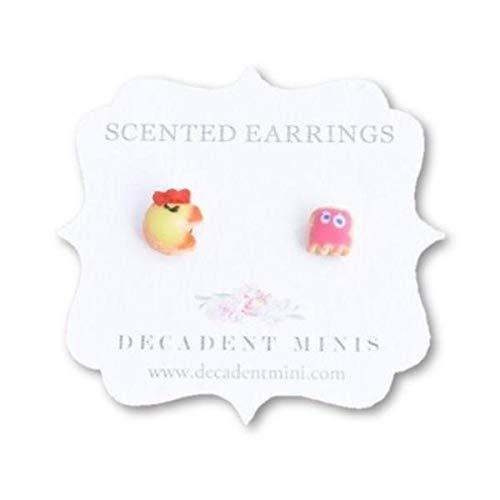 Scented Mrs. Pac Man & Pinky Sugar Cookie Earrings