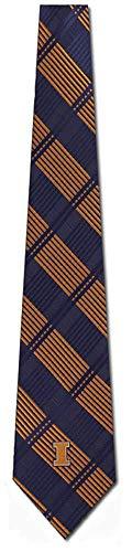 - Illinois Woven Plaid Necktie