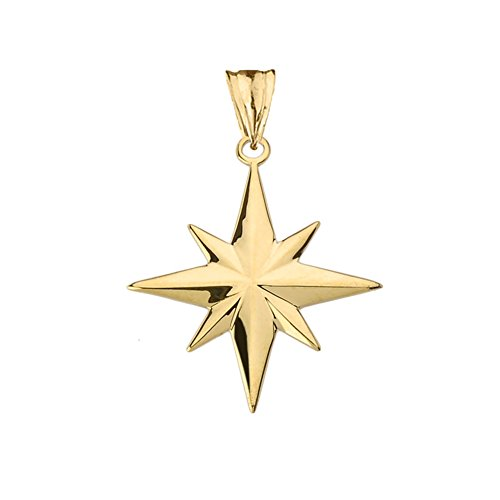 Enchanting North Star Charm Pendant in 10k Yellow Gold (10 Carat Charms)