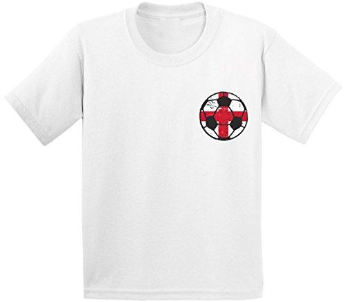 Pekatees England Soccer Infant Shirt English Baby Tshirt English Football 2018 White 18M (Beckham Soccer Shirt)